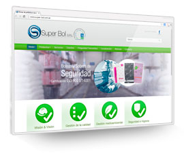 SuperBol S.R.L. Packaging, CMS Joomla, CSS, Jquery, Catálogo, Showroom
