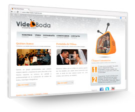 Video Boda Madrid, Sitio web en HTML, CSS, Flash y PHP
